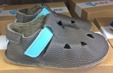 Baby Bare Shoes IO Blue Beetle - Top Perforation, barefoot botičky